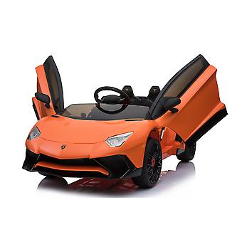 Licensed Lamborghini Aventador SV 12V 7A Electric Ride On Car Orange