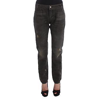 Costume National Gray Cotton Blend Boyfriend Jeans