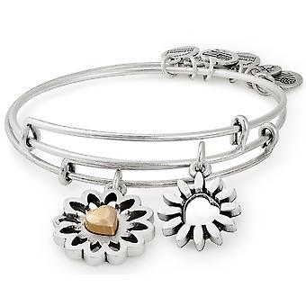 Alex y Ani eres mi conjunto de corazón de dos pulseras pulseras - Rafaelian plata - A18SETYHTTRS