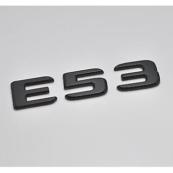 Matt Black E53 Flat Mercedes Benz Car Model Numbers Letters Badge Emblem For E Class W210 W211 W212 C207/A207 W213 AMG