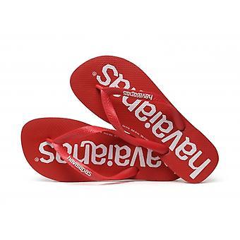 Havaianas Hav Top Logomania Mens Flip Flops Ruby Red