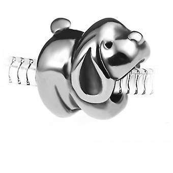 Charm perle chien en acier par SC Crystal BEA0253