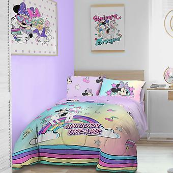 Minnie Mouse Einhorn Bettwäsche Set