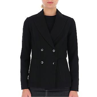 Barena Venezia Gid23660355590 Women's Black Wool Blazer