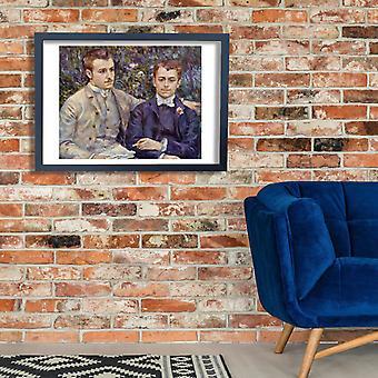 Pierre Auguste Renoir - dois homens Poster impressão giclée