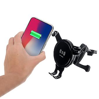 10W qi wireless charger gravity air vent car phone holder for 4.7-6.5 inch smart phone