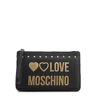 Love Moschino Original Women Fall/Winter Clutch Bag - Black Color 37191