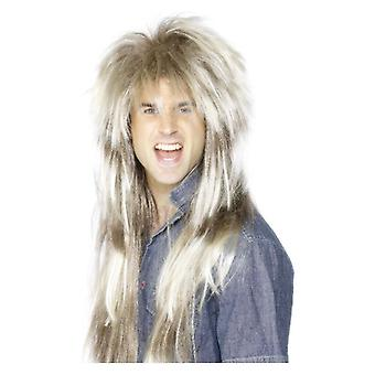 Mens 80s Mega Mullet Wig Fancy Dress Tillbehör