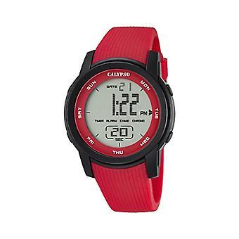 Calypso K5698/3-Unisex horloge, kunststof, kleur: rood