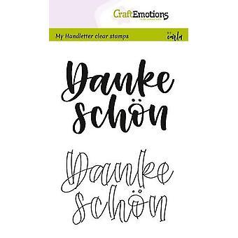 מקצועית בולים ברורים A6-המכתב-Danke schön (DE) קרלה קמפאיס