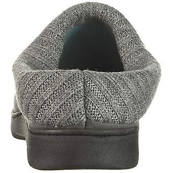 Dearfoams Women's Moc Toe Clog with Rib Knit Collar Slipper, Excalibur, XL Re...