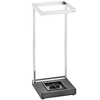Blomus umbrella stand MENOTO, PolyStone with stainless steel matt, plastic insert