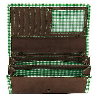 Friedrich Lederwaren Women's Rollover Exchange BAVARIA brown green