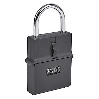 Portable Outdoor Secure Padlock Key Safe - 4 Digit Combination Protected Lockbox