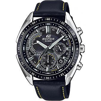 Casio Edifice Quartz Nero Quadrante Strap Cronograph Uomini's Orologio EFR-570BL-1AVUEF
