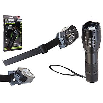 Summit Storm Force HP Tactical 3W Torch and 3x SMD Headlight