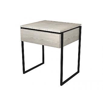 Gillmore Luxe - tavolo laterale con cassetto in varie macchie di quercia e finiture telaio