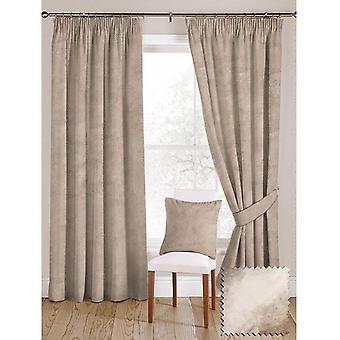 Mcalister textiles brillante color beige visón aplastado cortinas de terciopelo