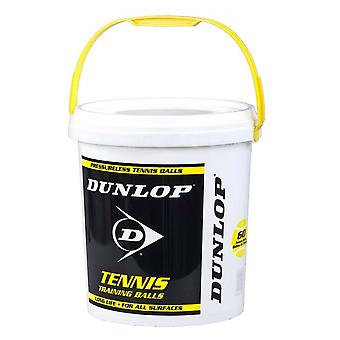 Dunlop Trainer Tennis Balls White 60 Ball Bucket
