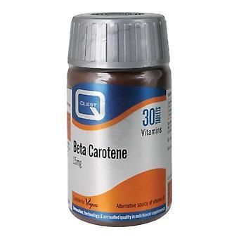 Quest Vitamins Beta Carotene 15mg Tabs 30 (601008)