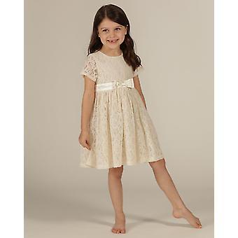 O essencial one girls ocasião especial vestido de renda mangas tampadas