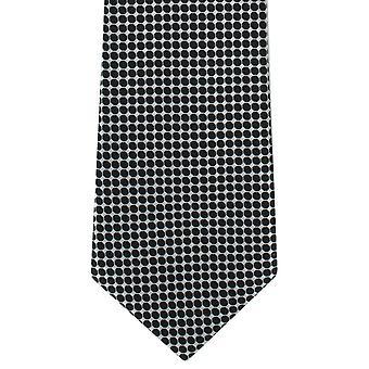Michelsons London plats Grid Polyester slips - svart