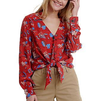 Funky Buddha Women's Casual Shirt In Allover Print