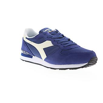 Diadora Camaro  Mens Blue Suede Lace Up Lifestyle Sneakers Shoes