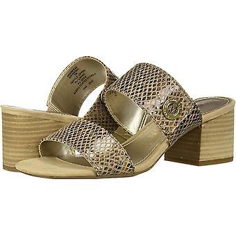Anne Klein Frauen's Breeze Heeled Sandale, natur, 9 M US