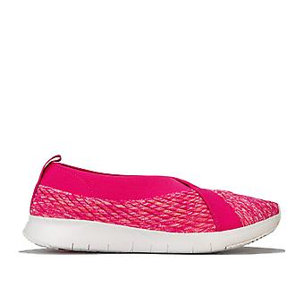 Women's Fit Flop Artknit Ballerina Shoes in Pink