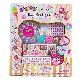 Hot Focus tuoksuva Nail Boutique-173 Piece Sweet Rush Nail Art Kit myrkytön vesipohjainen kuori pois kynsi lakka