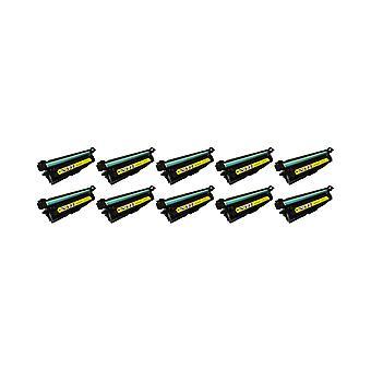 RudyTwos 10x Replacement for HP 507A Toner Unit Yellow Compatible with LaserJet Enterprise 500 M551n, M551d, M551dn, M551x, M551xh, Colour MFP M570dw, Colour Flow MFP M575c, Colour MFP M575dn, Colour