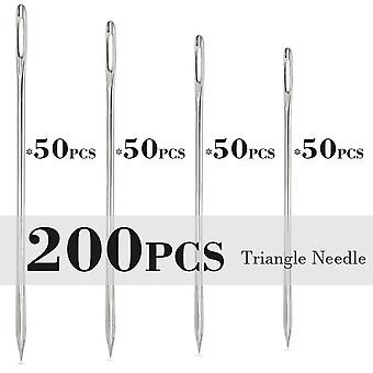 Leather Crafts Sewing NeedleRound Head Blunt PintPointed Prism Sharp Tool