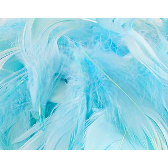 50g Light Blue 3-5in Mixed Feathers for Crafts
