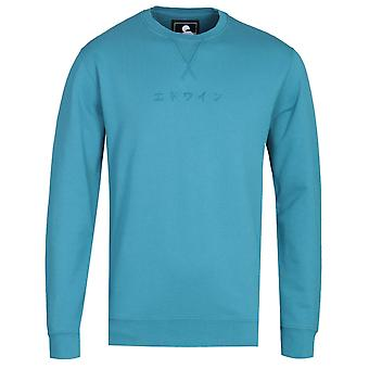 Edwin Saxony Blue Katakana Sweatshirt