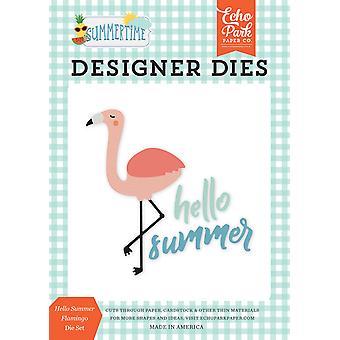 Echo Park Hello Summer Flamingo Dies