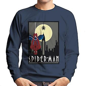 Marvel Spider Man Hanging From Web Men 's Sweatshirt Marvel Spider Man Hanging From Web Men 's Sweatshirt