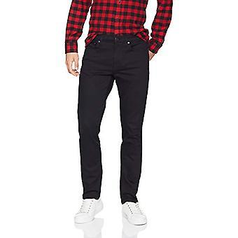 Essentials Men's Slim-Fit Stretch Jean, Black, 33W x 34L