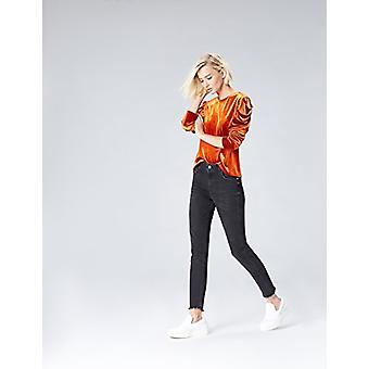 Vinden. Women's Skinny High Rise Stretch Frayed Hem Jeans, Black (Schwarz), W38...