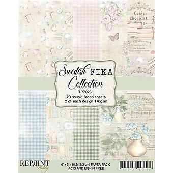 Reprint Swedish Fika Collection 6x6 Inch Paper Pack