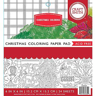 Craft Smith Christmas Coloring 6x6 Inch Paper Pad