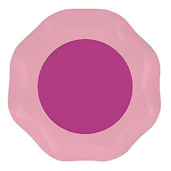 Podwójne różowe 27cm w kształcie papieru talerze partii