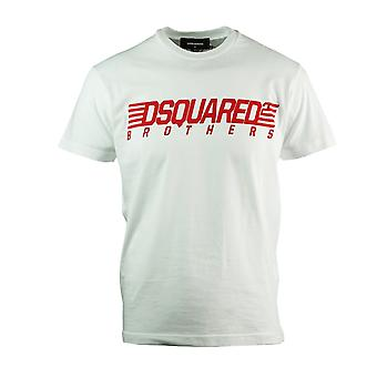 Dsquared2 Brothers Cool Fit White T-Shirt