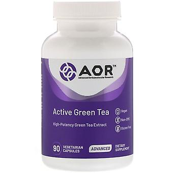 Advanced Orthomolecular Research AOR, Active Green Tea, 90 Capsules végétariennes