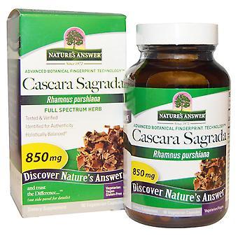 Respuesta de Nature's, Cascara Sagrada, Hierba de espectro completo, 850 mg, 90 gorras vegetarianas