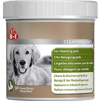 8in1 Dog Ear Cleansing Pads - 90 Pack