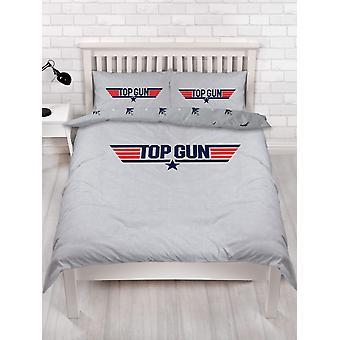 Top Gun Logo Dubbele Dekbed Cover en kussensloop Set