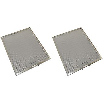 2 x Universal Cooker Hood Metal Grease Filter 300mm x 250mm
