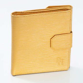 Straw Oak Grain Leather French purse