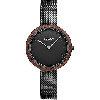 Obaku Trae Lille Charcoal Women's Wristwatch V245LXBBMB